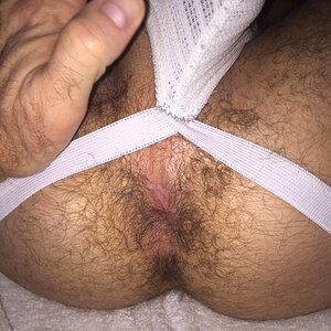 My hairy fuck hole about to take dads cock