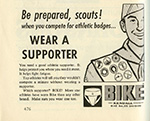 Bike Support Advertising - Boy Scouts