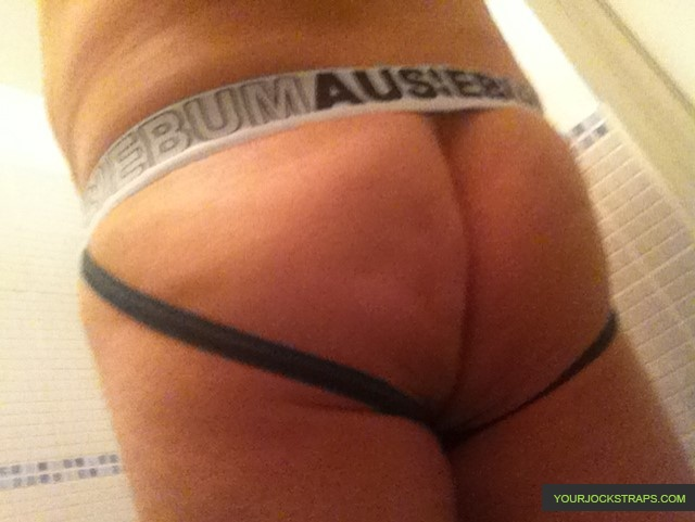 Aussiebum Green and White Cotton Jock